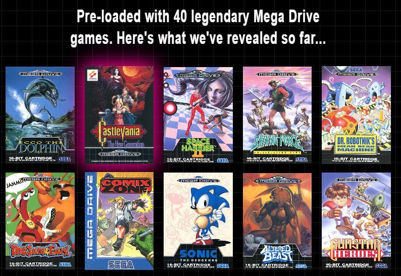 jeux megadrive mini